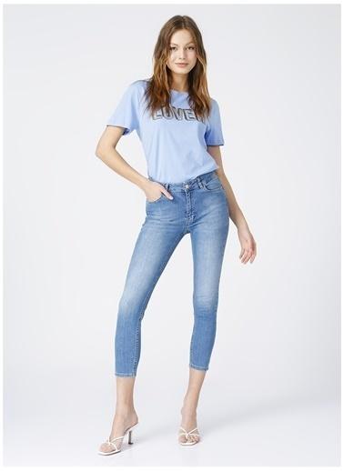 NetWork Network Kadın Açık Mavi Denim Pantolon Mavi